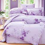 Royal Literie《卉影-紫》100%天絲 雙人四件式兩用被套床包組