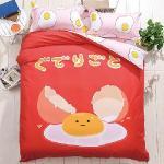 生活提案 大版面柔絲絨 蛋蛋君 雙人四件式被套床包組 豐富變化三版花色
