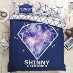 生活提案 大版面柔絲絨 藝想星空 雙人四件式被套床包組 豐富變化三版花色