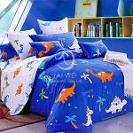 塔妮雅【恐龍樂園】單人全舖棉三件式二用被床包組