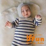 【iSFun】垂耳兔寶寶*套頭編織保暖毛線帽/二色可選(灰)