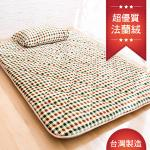 【Ally】桔色森林8公分厚法蘭絨床墊-雙人加大
