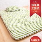 【Ally】芬芳階梯8公分厚法蘭絨床墊-單人