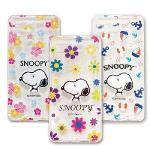 SNOOPY 史努比 APPLE IPhone7 Plus 立體彩繪防摔空壓手機殼(扶桑花款(粉紅))