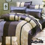 Daffodils《藍寓玫瑰》雙人五件式純棉兩用被床罩組r*★全花色床裙款