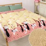 床之戀 複合式法蘭絨+羊羔絨超舒柔保暖厚被毯-夢幻貓之城