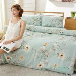 DUYAN《浪韻花漾》天然嚴選純棉雙人加大四件式兩用被床包組