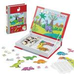 【法國Janod】磁鐵遊戲書-恐龍拼字