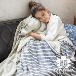 【濱川佐櫻-爵士樂章】雙人6x7嚴選特厚法蘭絨兩用毯被
