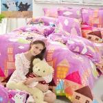 義大利Fancy Belle X Malis《夢遊熱氣球》特大四件式防蹣抗菌雪芙絨被套床包組