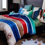 生活提案-法蘭絨 雙人四件式 兩用毯被套舖棉床包組-樂沐咖啡