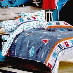 RODERLY-純棉 兩用被床罩組 雙人六件式-悠遊旅行