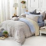 義大利La Belle《光影枝蔓》特大天絲四件式防蹣抗菌舖棉兩用被床包組