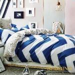 【BEDDING】100%棉 單人舖棉床包+舖棉兩用被三件組-卡羅時光(藍)
