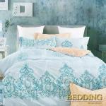 【BEDDING】100%棉 單人舖棉床包+舖棉兩用被三件組-盛情相約