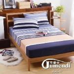 【法國Jumendi-悠遊假期】台灣製活性天絲絨雙人三件式床包組