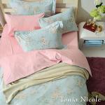 Tonia Nicole東妮寢飾 綠堤浮卉精梳棉兩用被床包組(雙人)