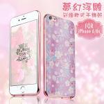 Colors iPhone 6 / 6s 夢幻浮雕彩繪軟式手機殼-春意繁花