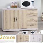 《Homelike》塔薇4尺餐櫃(二色可選)(白栓木紋雙色)