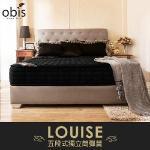 【OBIS】鑽黑系列-二線五段式獨立筒無毒床墊_雙人加大6*6.2尺(23cm)