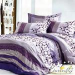BUTTERFLY 柔絲絨雙人加大薄床包 含枕套x2 【時時生輝】