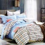 【BEDDING】活性印染單人三件式舖棉床包兩用被組-芭寶莉格