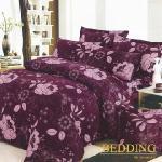 【BEDDING】活性印染雙人四件式舖棉床包兩用被組-花意蔓延