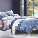 【BEDDING】活性印染雙人四件式舖棉床包兩用被組-美麗時光