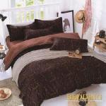 【BEDDING】活性印染雙人四件式舖棉床包兩用被組-豹紋-歡樂頌