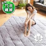 【濱川佐櫻-原色淺灰】嚴選單人3尺高彈力透氣法蘭絨床墊