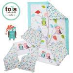 「英國smarTrike-Tots」貓頭鷹家族立體刺繡床圍套組3件式