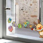 Christine聖誕節慶佈置/壁貼 玻璃貼/MB017 馴鹿禮盒(小)