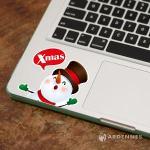 Christine聖誕節慶佈置/壁貼 玻璃貼 開關貼/彩色 OPS003佳音雪人