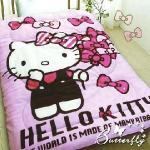 【HELLO KITTY】凱蒂貓 搖粒絨暖暖被 蝴蝶飄飄樂