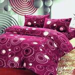 【BUTTERFLY】 抗寒暖呼呼 搖粒絨雙人床包被套組 夢幻圓圈
