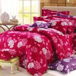 Carolan萬紫千紅-紅 雙人五件式純棉床罩組