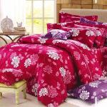 Carolan萬紫千紅-紅 加大五件式純棉床罩組