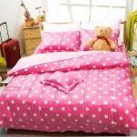 Carolan星光-粉 雙人五件式純棉床罩組