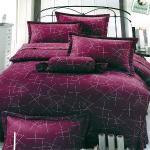 Carolan璀璨-紅紫 雙人五件式純棉床罩組