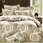 Carolan圓滿-米 雙人五件式純棉床罩組