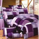 Carolan愛戀-紫 雙人五件式純棉床罩組