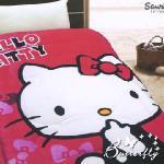 【HELLO KITTY】 凱蒂貓 法蘭絨暖暖被 快樂生活(紅)