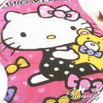 【HELLO KITTY】 凱蒂貓 法蘭絨暖暖被 小熊寶貝(粉)