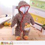 魔法Baby~嬰兒保暖連身衣 加厚鋪棉極暖連帽包腳連身衣(3M)