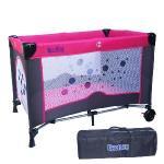 寶盟BAUMER 圓點遊戲床+雙層架含尿布台(玫瑰紅)