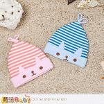 魔法Baby~小兔造型嬰兒帽(藍)