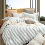 【情定巴黎】西亞加-100%精梳純棉雙人四件式全鋪棉兩用被厚包組-獨立筒適用
