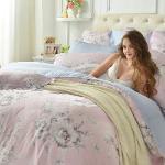 義大利La Belle《伊香花宴》特大天絲八件式防蹣抗菌兩用被床罩組