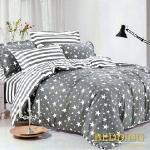 BUTTERFLY 柔絲絨單人薄床包 單件含枕套 【星光燦爛】