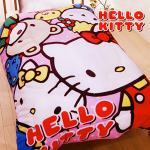 【HELLO KITTY】 凱蒂貓 刷毛暖暖被 歡樂同好會